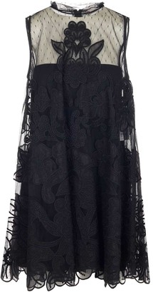 RED Valentino Embroidered Tulle Shift Dress