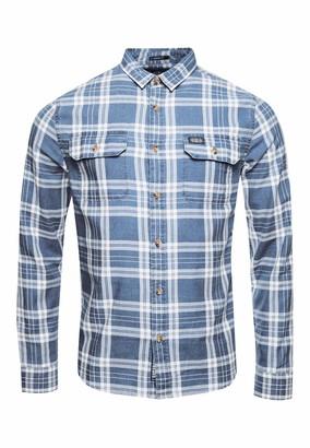 Superdry Men's Merchant Milled Lite L/s Shirt Casual