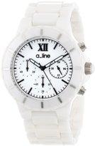 A Line a_line Women's AL-20041-WWWSR Marina White Ceramic Bracelet Watch