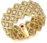Roberto Coin 18K Yellow Gold New Barocco Three Row Diamond Ring
