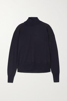 LE 17 SEPTEMBRE Wool-blend Turtleneck Sweater - Navy