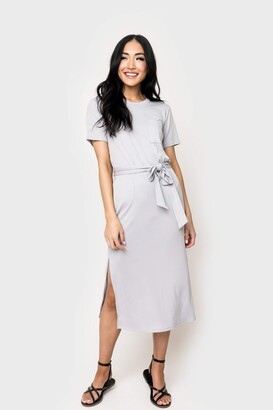 Gibson Lindsey Belted Midi T-Shirt Dress