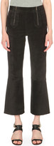 MiH Jeans Arrow cropped suede trousers
