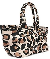 Marc by Marc Jacobs Leopard Embelished Canvas Tote Bag