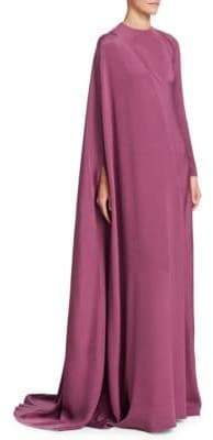 Valentino Silk Long Sleeve Gown