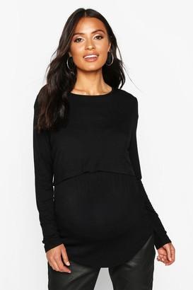 boohoo Maternity Long Sleeve Nursing Top