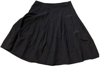 Roberta Furlanetto Black Silk Skirt for Women