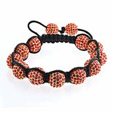 Bling Jewelry Shamballa Inspi Bracelet Crystal Beads 12mm Alloy