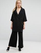 Monki Wide Leg Pin Stripe Pants