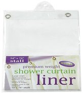 Carnation Home Fashions Stall Heavy Gauge Vinyl Shower Curtain Liner, 54-Inch by 78-Inch