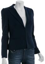 navy stretch cotton 'Tuxedo' jacket