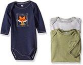 Hudson Baby Boys' 3-Pack Long Sleeve Hanging Bodysuit