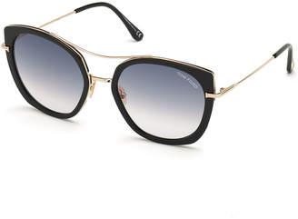 Tom Ford Joey Metal Cat-Eye Sunglasses
