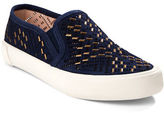 AERIN Monique Perforated Suede Slip-On Sneakers