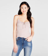 Aeropostale Womens Solid Lace-Up Tank Shirt