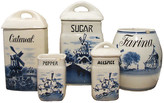One Kings Lane Vintage Blue & White Canister Collection - Set of 5 - Chez Vous