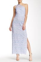Shoshanna One Shoulder Lace Gown