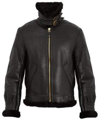 Schott Military B 3 Shearling Jacket - Mens - Black