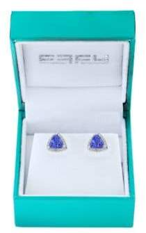 Effy Super Buy 14K White Gold, Diamond and Tanzanite Stud Earrings