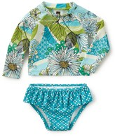 Tea Collection Sorrentine Two-Piece Rashguard Swimsuit Set (Baby Girls)