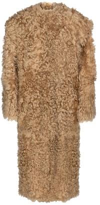 Isabel Marant Geltonia shearling coat