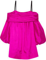 Isa Arfen Off-the-shoulder Silk-taffeta Dress - Fuchsia