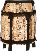 Lanvin Sequined silk-organza mini skirt