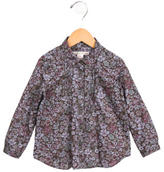 Bonpoint Girls' Floral Print Button-Up Top