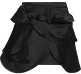 J.W.Anderson Layered Silk-Satin Mini Skirt