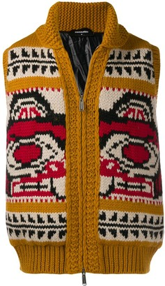 DSQUARED2 Pattern Knit Gilet