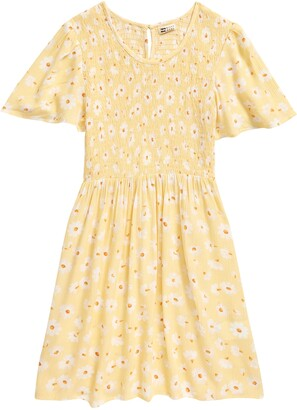Billabong Kids' Heart Song Smocked Floral Dress