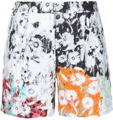 Oscar de la Renta floral embossed shorts - women - Silk/Cotton/Nylon/Polyester - 2