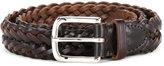 White House Cox Whitehouse Cox braided belt