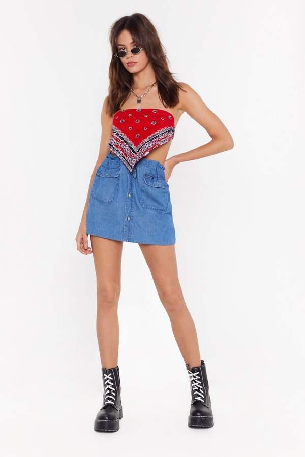 9bf308dbd0 Button Down Denim Skirt - ShopStyle UK