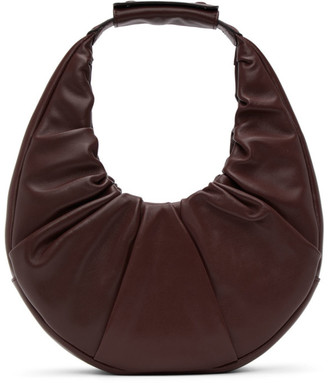 STAUD Burgundy Soft Moon Bag