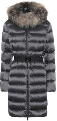 Moncler Tinuv fur-trimmed down coat