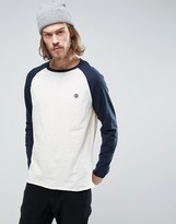 Element Blunt Long Sleeve Top Raglan Small Logo In Navy