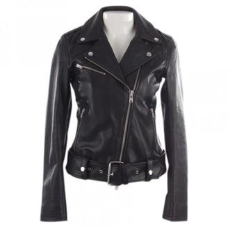 J. Lindeberg Black Leather Jacket for Women