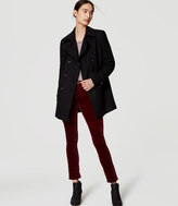 LOFT Back Pleat Peacoat