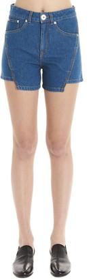 Lanvin Asymmetric Denim Shorts