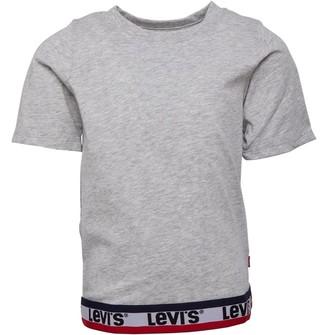 Levi's Girls Varsity Taping Knit Top Light Grey Heather