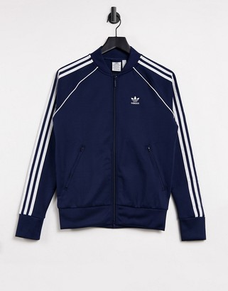 adidas track top in navy