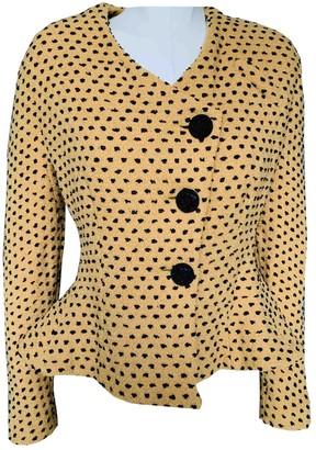 Emmanuelle Khanh Yellow Wool Jacket for Women Vintage