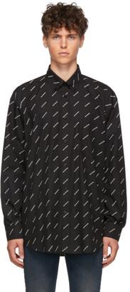 Balenciaga Black and White All Over Logo Shirt