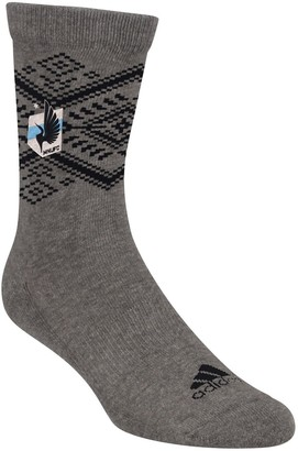 adidas Women's Heathered Gray Minnesota United FC Tribal Crew Socks
