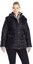 Big Chill Women's Plus Size Sweater Vestee Quilted Jkt