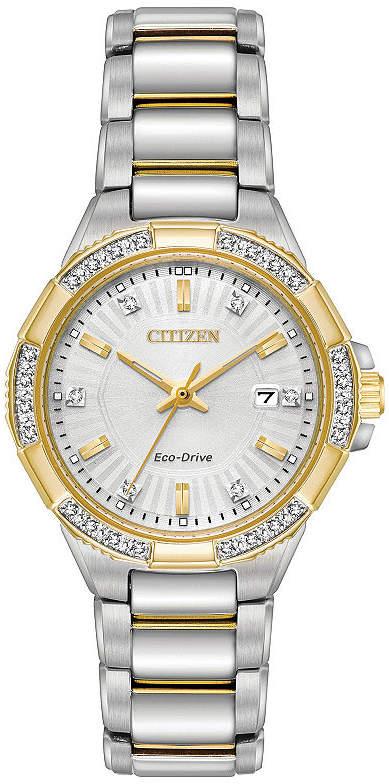 Citizen Womens Two Tone Bracelet Watch-Ew2464-55a