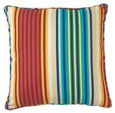 Outdoor 20-Inch Throw Pillow in Multi Modern Stripe