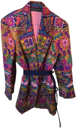 Jean Louis Scherrer Jean-louis Scherrer Multicolour Silk Jacket for Women Vintage