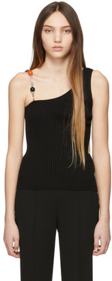 Emilio Pucci Black Beaded Strap Tank Top